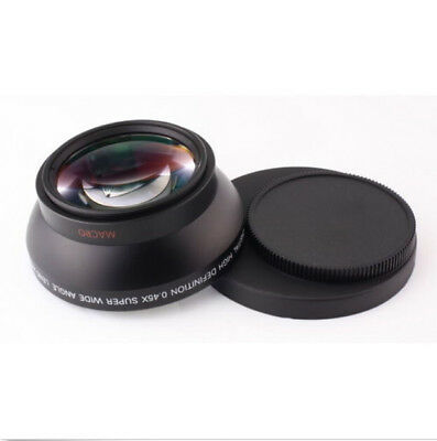 55mm 0.45x Wide Angle Lens & Macro Conversion Lens for Camera 62mm Front Threads
