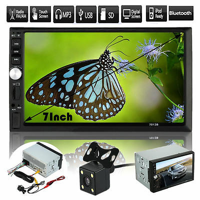 """7"""" Double 2 Din Car Stereo Bluetooth USB AUX MP5 MP3 Player Radio Parking Camera"""