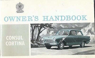 Ford Consul Cortina Owners Handbook 1964 Excellent Condition