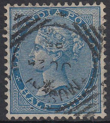 1885 India used in Muscat Oman, 1/2a blue, SG# Z1/7/16, Donaldson Type  [sr3166]
