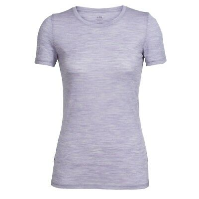 Icebreaker Tech Lite SS Crewe women silk heather Damen T-Shirt flieder Baselayer