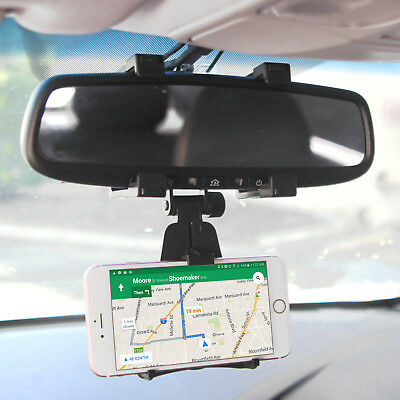 Rear View Mirror Mount Phone Holder fits your Jitterbug Smart