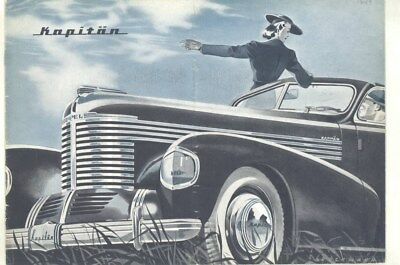 1949 Opel Kapitan Prestige Brochure German wy7755