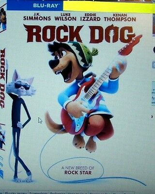 "Rock Dog  "" Blu-Ray Disc, Case and Artwork"