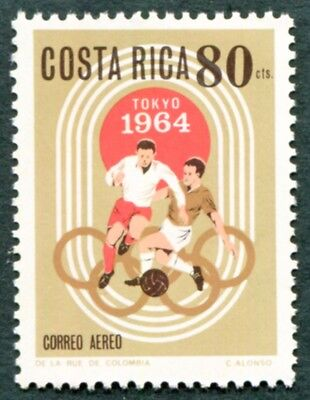 COSTA RICA 1965 80c SG730 mint MNH FG Tokyo Olympic Games Football AIRMAIL #W47