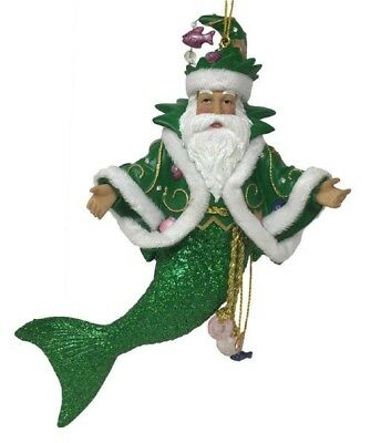 December Diamonds Limited Edition Green King Neptune Merman Ornament 5555049 New