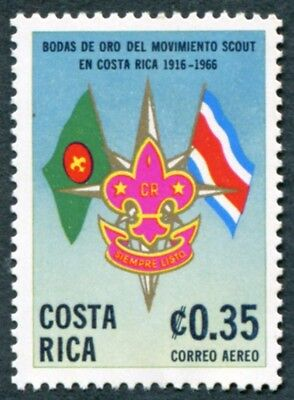 COSTA RICA 1968 35c SG801 mint MH FG Scout Movement Golden Jubilee AIRMAIL #W47