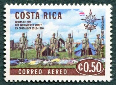 COSTA RICA 1968 50c SG802 mint MH FG Scout Movement Golden Jubilee AIRMAIL #W47