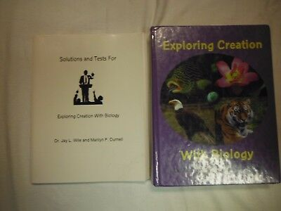 2 pc. APOLOGIA EXPLORING CREATION WITH BIOLOGY-1st  ED. TEXTBOOK,SOLUTIONS,TESTS