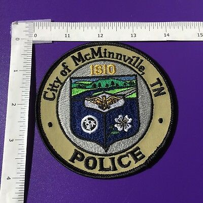 McMINNVILLE TENNESSEE  POLICE  SHOULDER PATCH