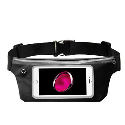 Waist Band Fanny Pack Phone Holder Black fits iPhone 8 Plus