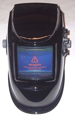 Large View Auto Darkening Welding Helmet Adj Shade Delay & Sensitivity Black