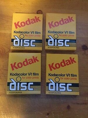 NOS Kodak Disc Film Kodacolor VR Gold 4 packs Vintage Expired Film 200