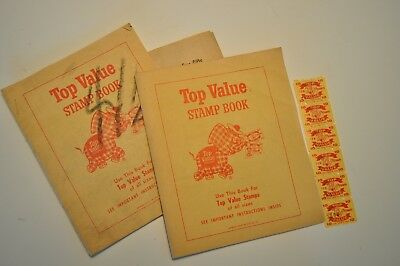 VintageTop Value Stamp Books Toppie the Plaid Elephant Part Filled