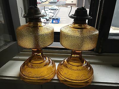 EAGLE Vintage OIL LAMP Risdon P&A DANBURY CT Emergency Light Amber Glass