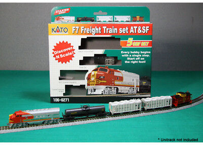 NEW Kato N Freight RTR F7 AT&SF Set Train 106-6271