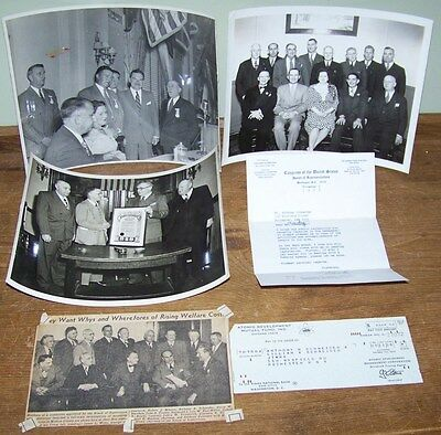 Lot Vintage Ny Congressman Rep Frank Horton Wire Photo Signed Letter Congress