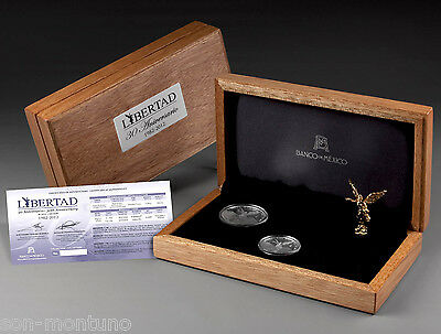 NO COA - 2012 LIBERTAD 30th ANNIVERSARY SET / 1oz Proof 1/2oz BU & Figurine/BOX