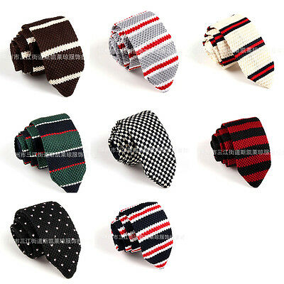 Men's Casual Colourful Tie Knit Knitted Tie Necktie Narrow Slim Skinny Woven