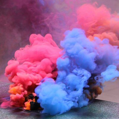 Magic Smoke Cake Colorful Effect Show Round Bomb Photography Aid Toy Divine New