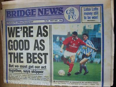 May-1991 Chelsea Official Newspaper: Bridge News No.085 - We're As Good As The B