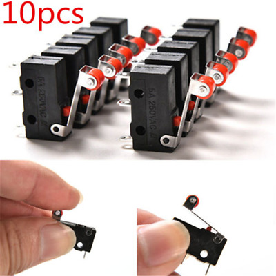 10PCS/Set Micro Roller Lever Arm Open Close Limit Switch KW12-3 PCB Microswitch