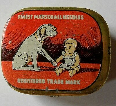 NADELDOSE für Grammophon-Dog and Baby  -leer-needle tin empfty