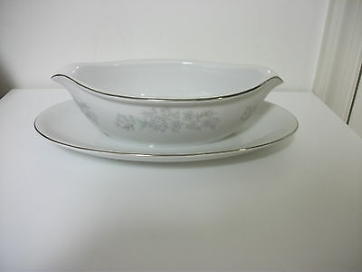 Nitto China Gravy Boat With Attatched Under Plate Harrington Made In Japan
