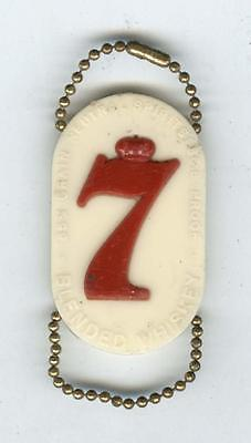 Vintage 1960's Seagram's 7 Seven Crown White red Plastic Keychain/Coin Holder 85