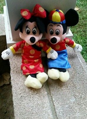 Mickey Mouse Minnie Hong Kong Disney Asian Japanese oriental plush New Year rare