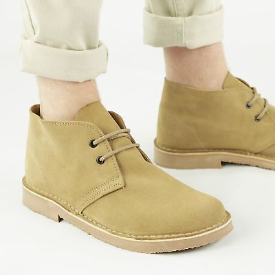 Ladies Roamers L380 Square Toe Eyelet Suede Leather Desert Ankle Boots