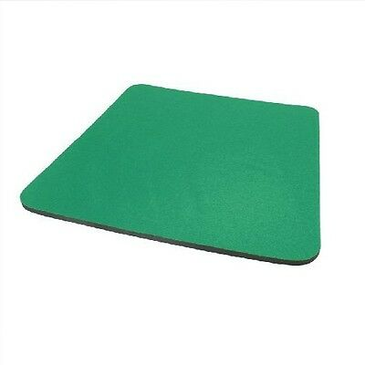 Green Fabric Mouse Mat Pad High Quality 5mm Thick Non Slip Foam 25cm x 22cm