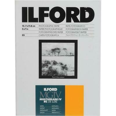 Ilford IV RC Deluxe Resin B/W Paper 5x7in, 25, Satin #1168255