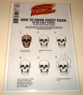 SPIRITS OF VENGEANCE # 1 Marvel Comic  (Dec 2017) NM  HOW TO DRAW VARIANT COVER