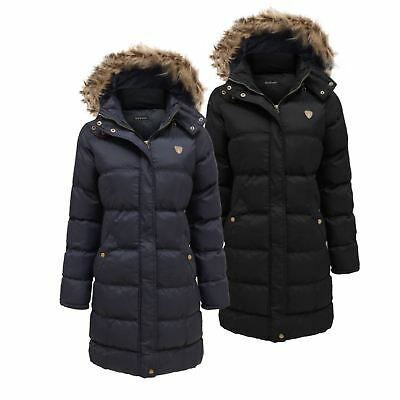 New Unisex Kids Winter Padded Parka Hoplong Coat Hooded Quilted Jacket Age 7-13