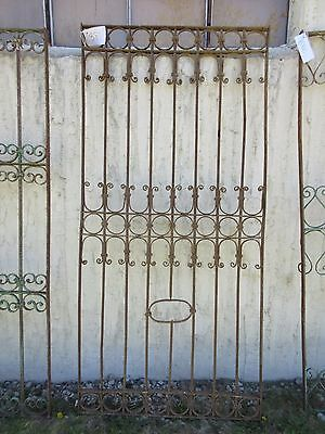 Antique Victorian Iron Gate Window Garden Fence Architectural Salvage Door #381