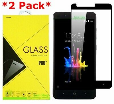 FULL COVER Premium Tempered Glass Screen Protector Guard For ZTE Blade Z Max
