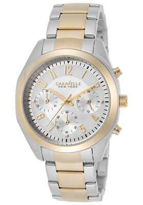 New Caravelle New York by Bulova 45L136 Womens Chronograph Stainless Steel Watch