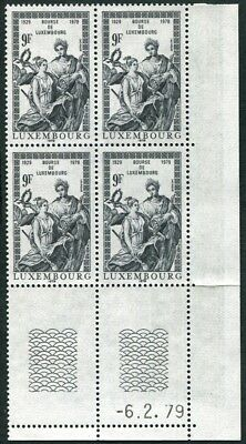 LUXEMBOURG 1979 6f black SG1029 mint MNH FG Stock Exchange Anniversary #W47