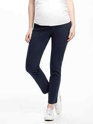New Old Navy Maternity Blue Pixie Chino Pants  sz 14 NWT $36  Side Panel