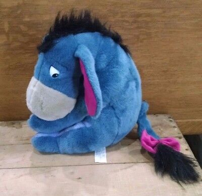 "Vintage Disney Store Exclusive 12"" Eeyore Plush Stuffed Animal w/ Removable Tail"