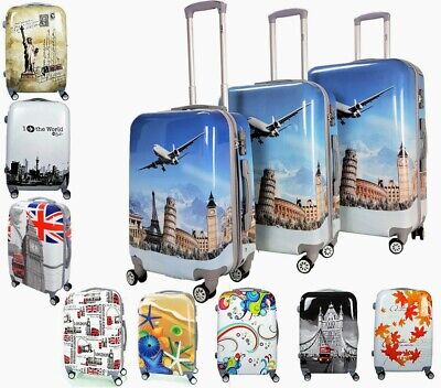 Reisekoffer Hartschale QTC WORLD 100% PC Beautycase M L XL SET Trolley Case