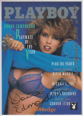 1996 Playboy Authentic Auto: Donna Edmondson #/2750 Autograph Playmate Of Year