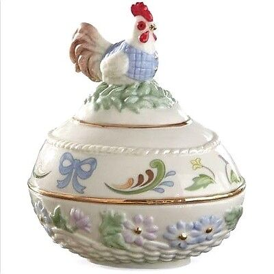 Lenox 2015 Regal Rooster Easter Egg Trinket Box NEW IN BOX!