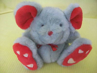 Chosun Mouse Plush Stuffed Animal Hearts Love Valentines Day Vintage Collectible