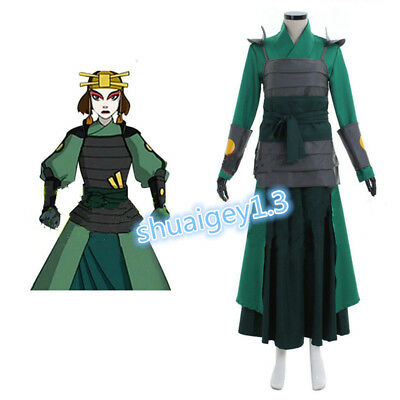 New!Custom made Avatar The Last Airbender Kyoshi Warriors Cosplay Costume