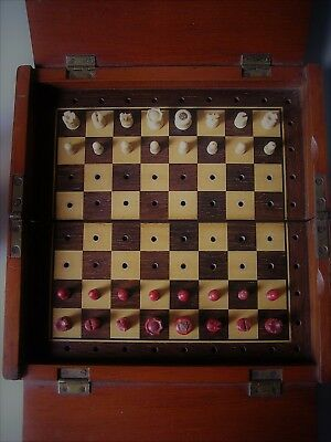 Early Quality English Travelling Chess Set