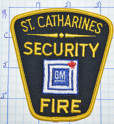 Canada, Gm Security Fire Dept St. Catharines Patch