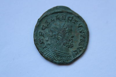 ANCIENT ROMAN  BRONZE COIN  ANT of ALLECTUS 3rd CENTURY AD