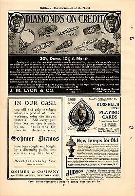 1907 Willis Russell Playing Cards Ad-Milltown,nj